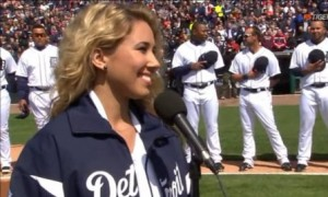 Haley Reinhart – National Anthem – Detroit Tigers Home Opener (VIDEO)