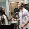 """EMPIRE: Jamal (Jussie Smollett, R) gets close with famous artist Delphine (guest star Estelle, L) in the """"Unto the Breach"""" episode of EMPIRE airing Wednesday, March 4 (9:01-10:00 PM ET/PT) on FOX. ©2015 Fox Broadcasting Co. CR: Chuck Hodes/FOX"""