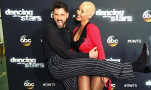 Maks Chmerkovskiy and Amber Rose Leave Dancing with the Stars (VIDEO)